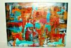 ABSTRACT METALLIC COLOR SHIFT ACRYLIC PAINTING  CAROLINE 452 SIGNED DON ALLEN