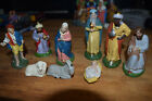 9 Vintage German Nativity figures