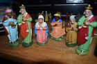 VINTAGE WEST GERMANY PAPER MACHE SHEPHERD AND SHEEP NATIVITY FIGURE