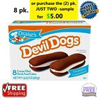 Drake's Devil Dogs, 13.63 oz, 8 Count ****FRESH**** FREE RETURNS - FREE SHIPPING