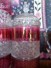 EAPG Ripley Glass Ruby Stained Mascotte Pattern Apothecary Jar 1873