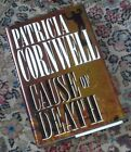 Signed CAUSE OF DEATH Patricia Cornwell 96 1st Ed First Edition Print Scarpetta