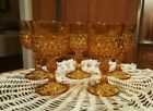 Indiana Amber Diamond Point Wine Goblets, 6 oz  - set of 5