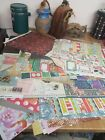 Cardstock Scrapbook Paper Lot of Double Sided 70 sheets 5 sheets stickers