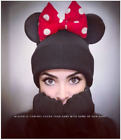 Warm Minnie Mouse Beanie With Ears  Winter Hat   Couple Beanie