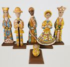 Unique Hand Carved Nativity Set Christmas wooden Hand Painted Beige Color 12