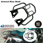 New Durable Motorcycle Armrest Rear Shelf Refitted Box Tail Fin Luggage Rack Set