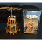 Vintage German Pyramid 3 Tier Christmas Windmill Nativity Set 44cm Candle Holder