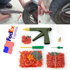 Universal Car Wheel Tubeless Tire Repair Gun Kit + Plugs Gun Mushroom