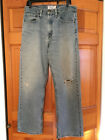 Vintage LEVI STRAUSS LOOSE STRAIGHT DENIM JEANS MENS SIZE 32 Torn