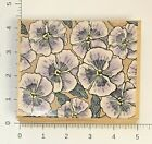 Hero Arts Pansy Portrait Rubber Stamp Large 5 X 4 Flowers Pansies