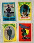 4-1966 TOPPS GREEN HORNET STICKER # 6,10,23 & 26 IN NICE CONDITION