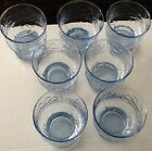 LIBBEY Country Garden BLUE Juice Glasses Set of 7