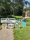 VINTAGE ORIGINAL OIL ADVERTISING SIGN SUNOCO GAS & VARIETY STORE Upstate NY