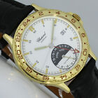 2/20 REVISION CHOPARD LINEA DÓRO HOMETIME GMT 36mm 18K GOLD BOX PAPIERE UHR 1204