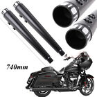 4 Megaphone Mufflers Dual Exhaust Pipes For Harley Electra Glide Road King USA