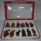 Vintage Sears Roebuck Christmas Nativity Scene 12 Piece Figurine Set Hong Kong