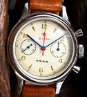 Seagull 1963 Chronograph 38mm Sapphire crystal, crystal back & 3 straps