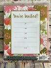 20 Party Invitations Yourre Invited Envelopes Seal + Save The Date Stickers