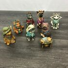 Cat Christmas Nativity Manger Scene Resin Figurines Set of 8 Pieces