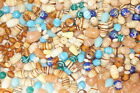 Assorted Lot of Mixed Limited Old Stock Murano Glass Beads Making Supplies 2lb