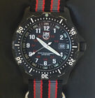 LUMINOX Navy Seal 8400 Mens Stainless Steel Watch: Black Matte Finish