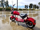 2000W 60V 20A Fat Tire Harley Chopper Style Electric Bike Scooter Motorcycle RED