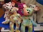 Ty beanie baby lot- Peace, Groovey, Kissey, Milenium & Beginning Bear w/errors