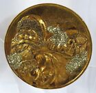 A13 Christmas Gold Glitter Santa Plate on Stand Decor 6 Holiday Winter