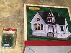 Lemax Hillcrest Community Church With Preacher-Colonial Style Lighted Village
