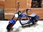 New 2000W 60V Fat Wide Tire Electric Scooter Chopper Harley Motorcycle 20AH Blue