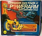 Vintage Mego Commander Zack Power and his PowerArm with Lightning Cycle In Box