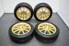 JDM Version 9 5x1143 Gold STi Wheels for sale 17x8 +53 Clears Brembos