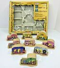 Vintage Alpine Village Christmas Light Covers Town Of Bethlehem Houses Nativity