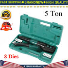 5 Ton Hydraulic Wire Terminal Crimper Battery Cable Lug Crimping Tool Kits New