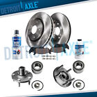 Front Wheel Hub + Disc Brake Rotors Pads 2005 2012 Ford Escape Tribute Mariner