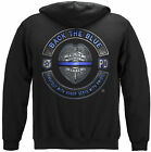 Back the Blue Police Law Enforcement Protect and Serve Hoodie Sweatshirt Black