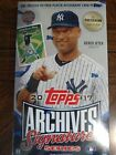 2 Factory Sealed Hobby Box Lot - 2017 Topps Archives Signature Baseball Cards
