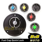 Racing CNC Quick Lock Release Fuel Cap For Kawasaki Z750 Z1000 03-06 03 04 05 06