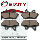Front + Rear Organic Brake Pads 2006 Harley Davidson FXDWGI Dyna Wide Glide ti