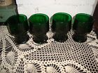 VINTAGE FOREST GREEN HONEYCOMB GEORGIAN TUMBLERS SET OF 4