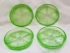 Jeannet Glass Floral Poinsettia Coasters Green
