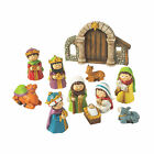Mini Nativity Set Figures Home Decor 11 Pieces