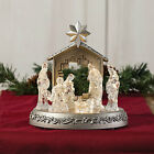 Led Manger Nativity Scene With Music Home Decor 1 Piece