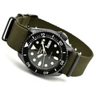 AUTHORIZED DEALER Seiko 5 Black Dial SRPD91 Automatic Nylon Strap Watch