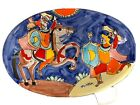 La Musa Pottery Mulitcolor Large Platter Made in Italy for Saks Fifth Avenue