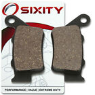 Rear Organic Brake Pads 2004 Husaberg FS650E Set Full Kit Supermotard be