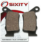 Rear Organic Brake Pads 2002 KTM 640 Duke II Set Full Kit Black Orange bg