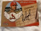 2002 Fleer Tradition Albert Pujols This Day In History On Card Auto SP