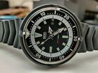 Seiko 7002 Automatic Vintage Diver Mod w/ SPEAR HANDS + BLACK REMOVABLE SHROUD